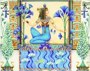 Lotus üzerinde durmak mı? (Eski Mısır)