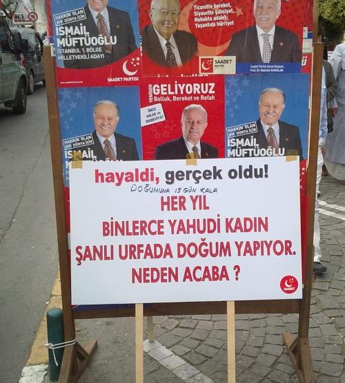 Saadet Partisi usulü seçim propagandası