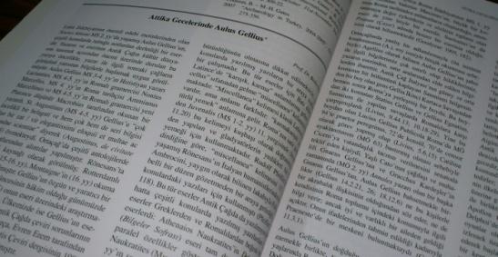 """Attika Gecelerinde Aulus Gellius"" Prof. Dr. Bedia Demiriş"