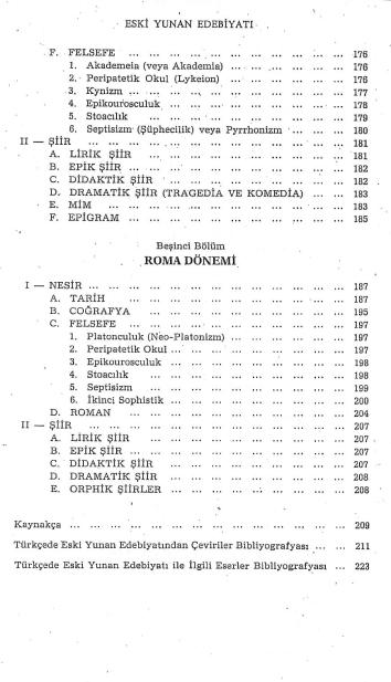 Güler Çelgin, Eski Yunan Edebiyatı