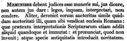 Francis Bacon, De Officio Judicis